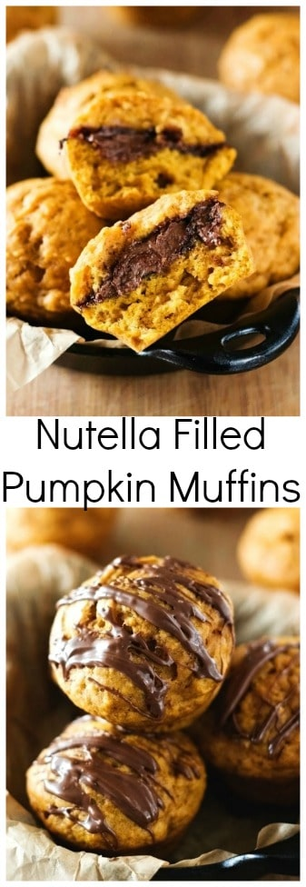 Nutella Filled Pumpkin Muffins moist and fluffy pumpkin muffins with sweet Nutella filling Nutella Filled Pumpkin Muffins