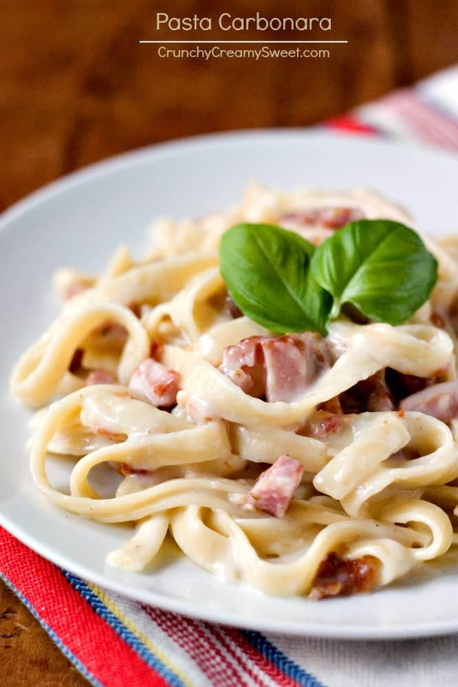 Pasta Carbonara the eastes pasta you can make Pasta Carbonara