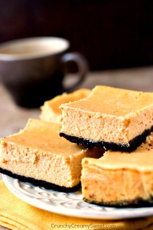 Pumpkin Cheesecake Bars creamy and delicious bars with fall flavors Pumpkin Cheesecake Bars