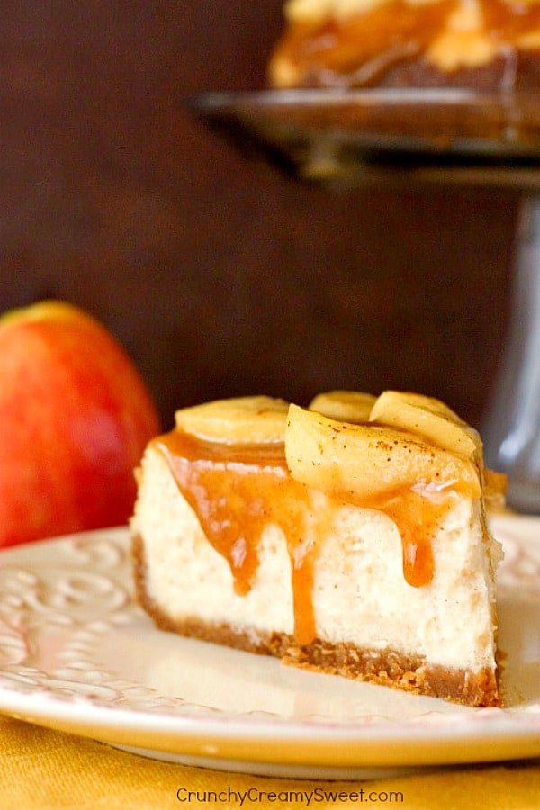 caramel apple cheesecake B Caramel Apple Cheesecake