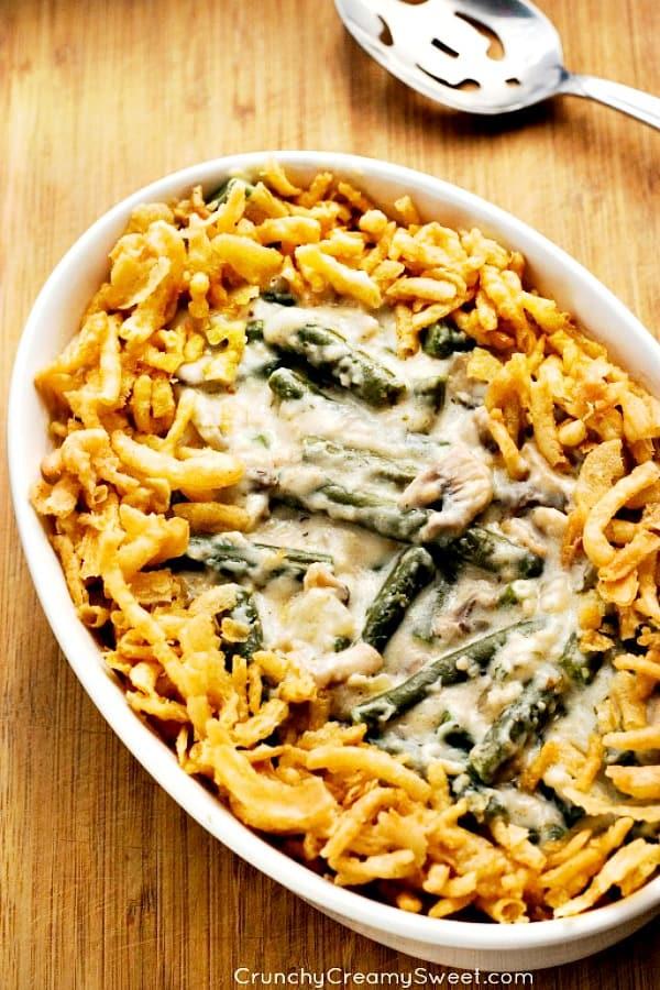green bean casserole A Green Bean Casserole from Scratch