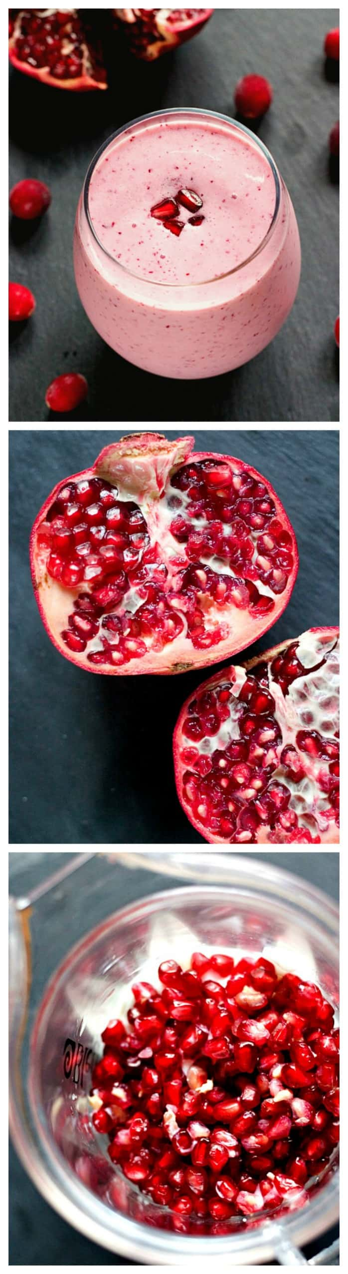 Cranberry Pomegranate Smoothie made from fresh ingredients and good for you Cranberry Pomegranate Smoothie