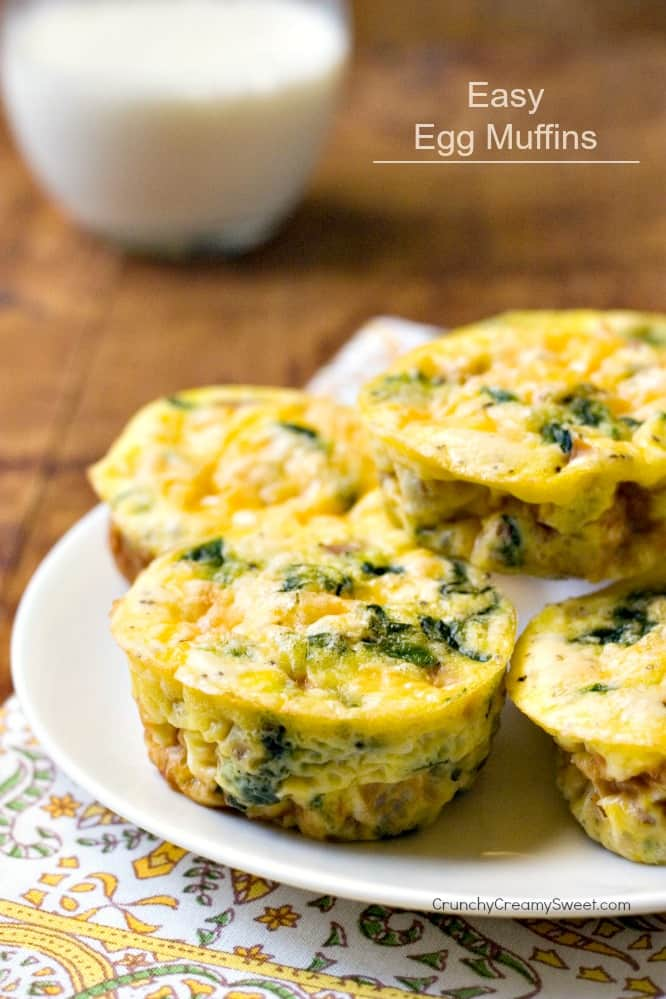 Vegetable Ham And Cheese Egg Muffins Crunchy Creamy Sweet
