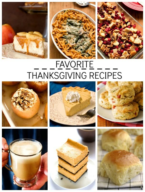 Favorite Thanksgiving Recipes Favorite Thanksgiving Recipes Round Up