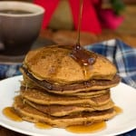 Gingerbread Pancakes fluffy and tasty pancakes with gingerbread flavors from CrunchyCreamySweet.com 150x150 Fluffy Gingerbread Pancakes