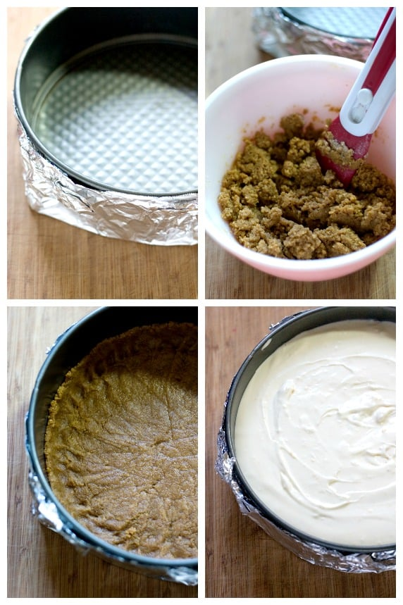 How to make a perfect cheesecake crust step by step photo tutorial Cranberry Orange Cheesecake