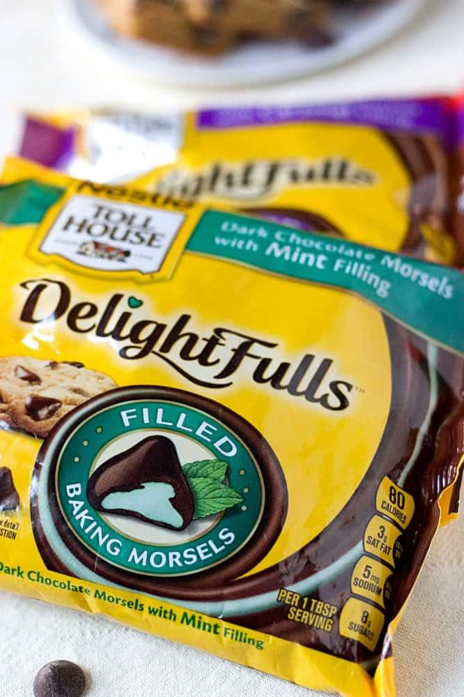 Nestle DelightFulls Mint Chocolate Chip Cookie Bars