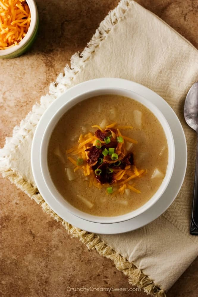 Slow Cooker Loaded Baked Potato Soup Slow Cooker Baked Potato Soup