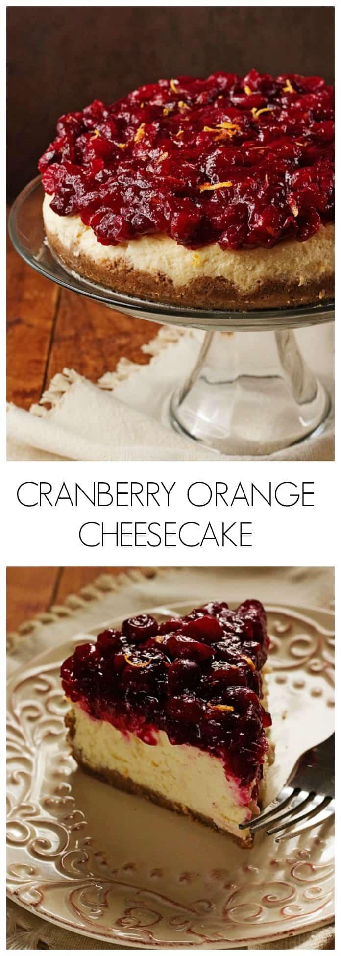 Sweet and Creamy Cranberry Orange Cheesecake Cranberry Orange Cheesecake