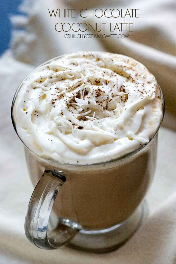 White Chocolate Coconut Latte Coconut Crunch Chocolate Cups Recipe