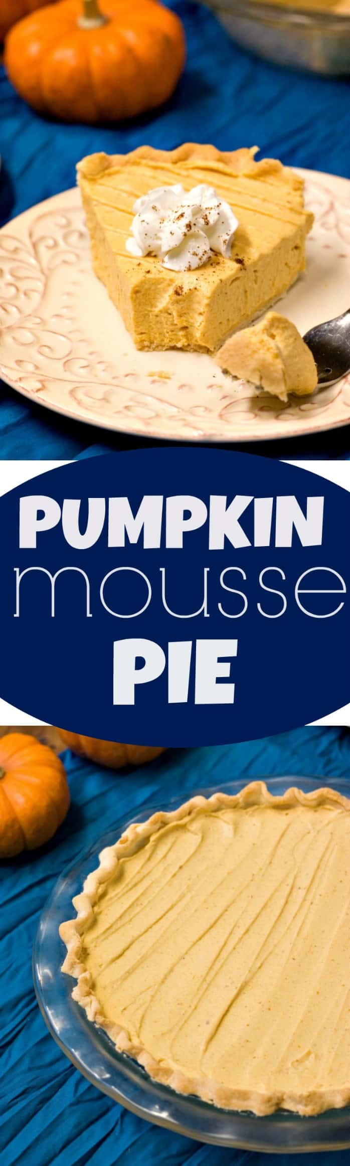 Pumpkin Mousse Pie - Crunchy Creamy Sweet