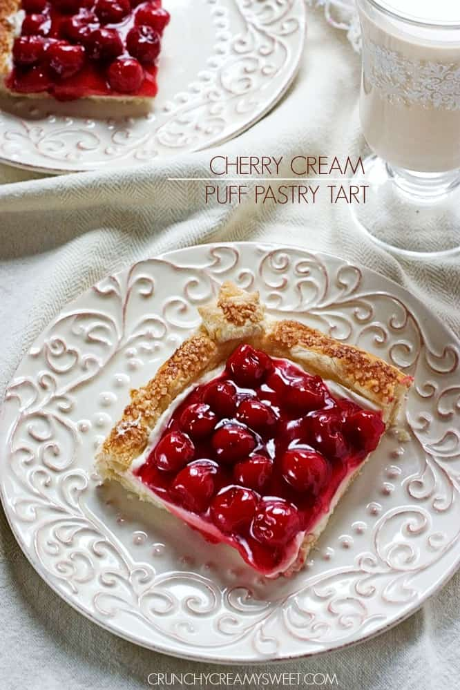 Cherry Cream Puff Pastry Tart Cherry Cream Puff Pastry Tart