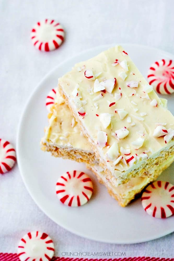 Peppermint White Chocolate Rice Krispies Peppermint Rice Krispies Treats