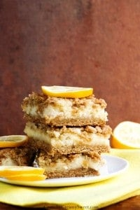 Creamy Lemon Crumb Bars new 200x300 20 Fantastic Lemon Recipes