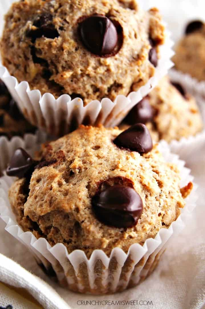 Banana chocolate chip muffins recipe healthy