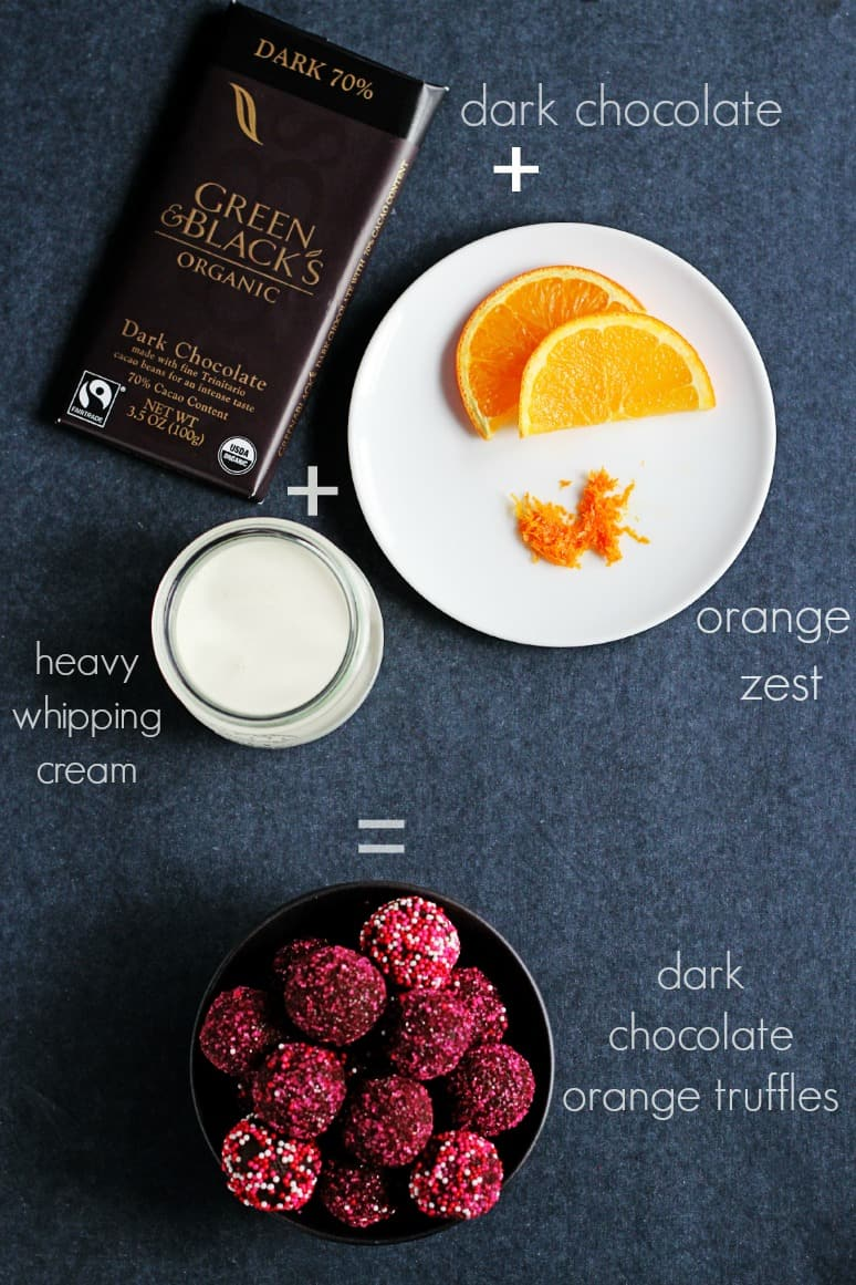 How to make chocolate truffles with only three ingredients 3 Ingredient Dark Chocolate Orange Truffles