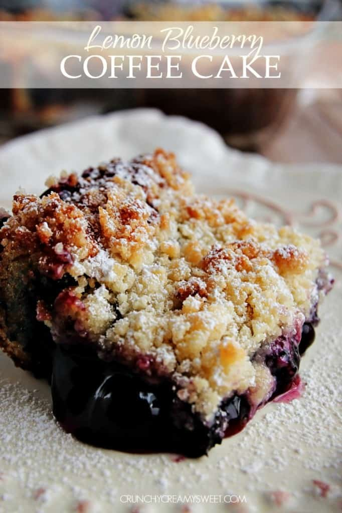 Lemon Blueberry Coffee Cake - Crunchy Creamy Sweet