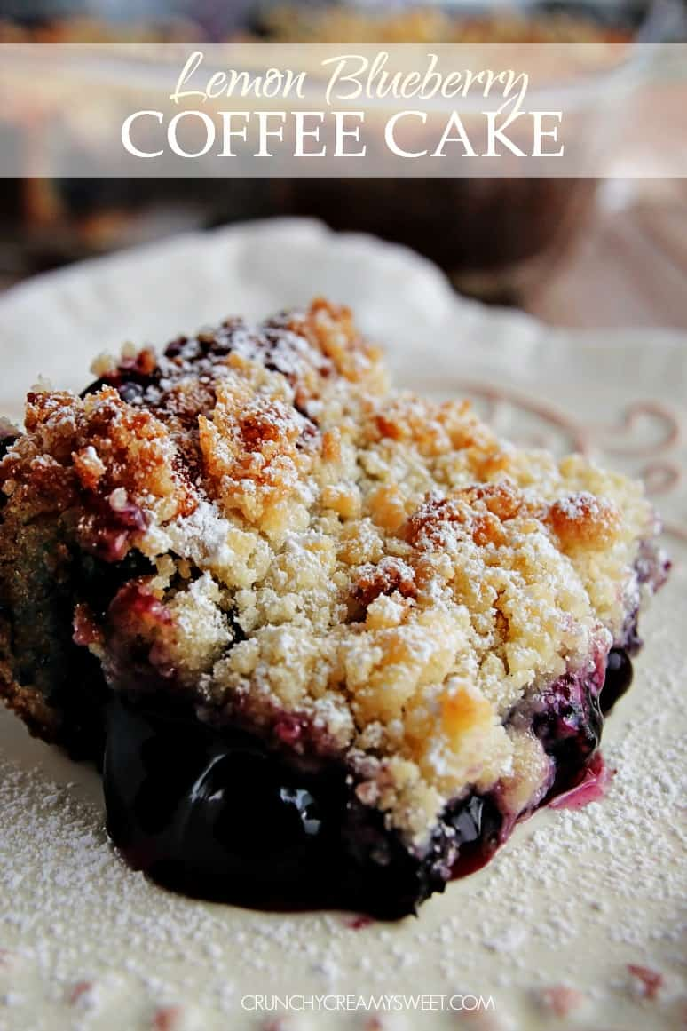 Lemon Blueberry Coffee Cake with a Crumb Topping @crunchycreamysw The Best Pumpkin Coffee Cake