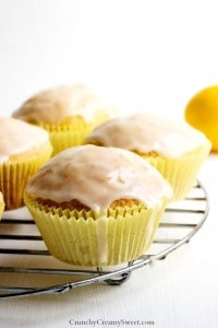 Lemon Muffins with Glaze new 200x300 20 Fantastic Lemon Recipes