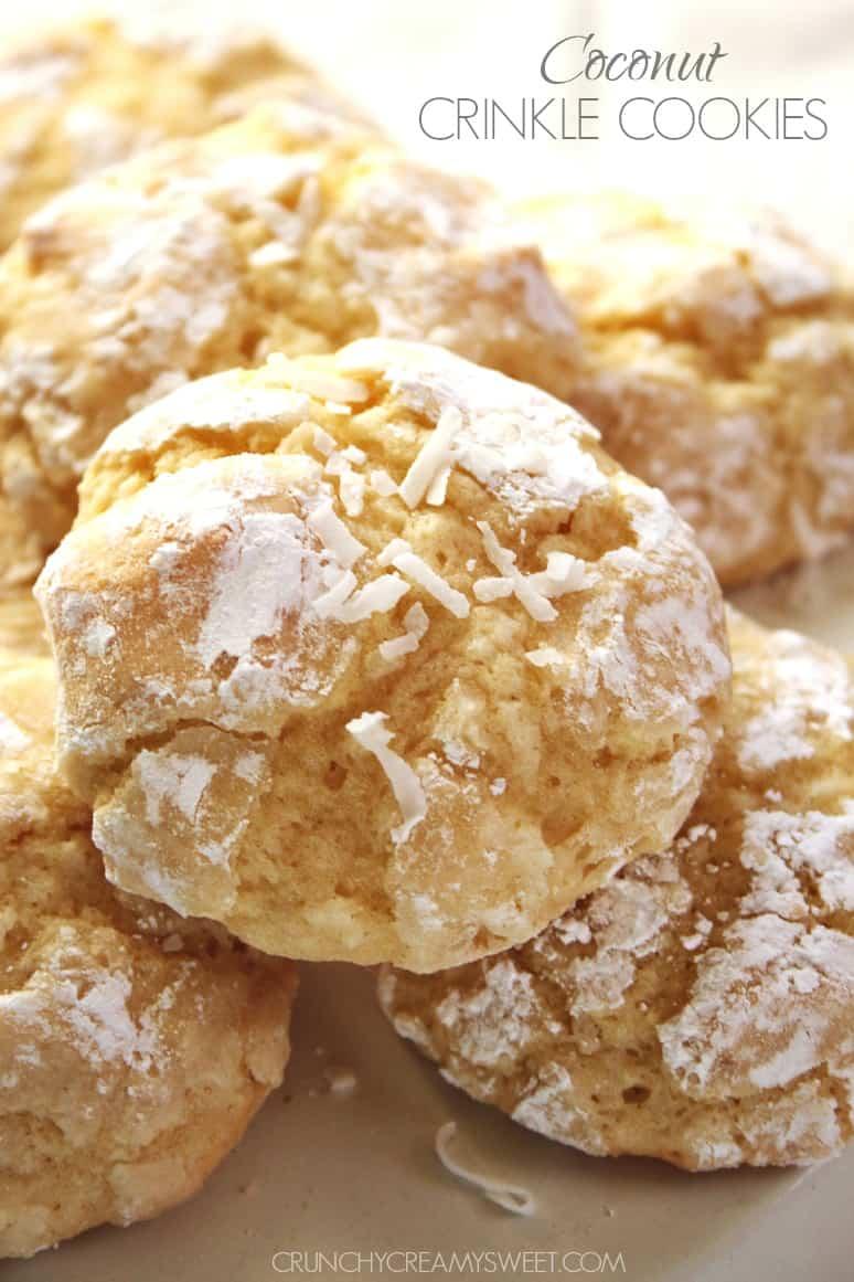 Coconut Crinkle Cookies @crunchycreamysw Lemon Burst Cookies {from scratch}