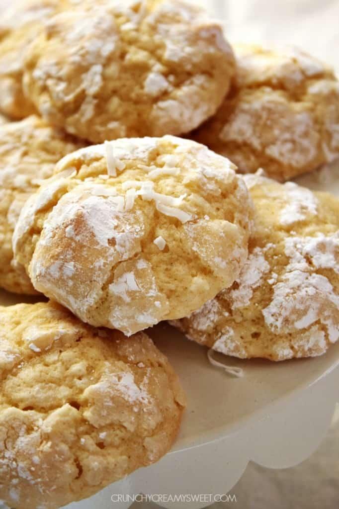 Coconut Crinkle Cookies crunchycreamysweet.com  682x1024 Coconut Crinkle Cookies