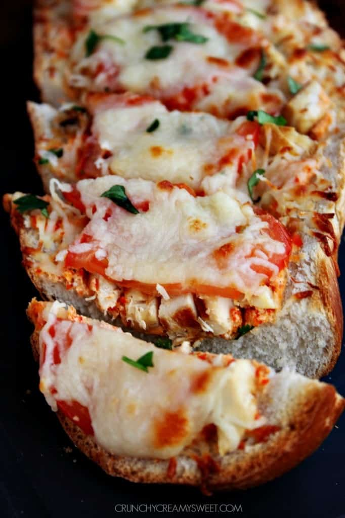 Easy Cheesy Bread with Italian Chicken 682x1024 Oven Baked Hot Wings ...