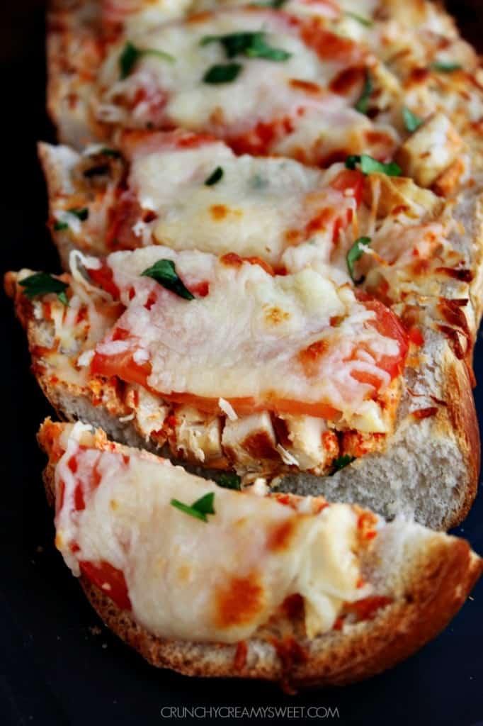 Easy Cheesy Bread with Italian Chicken 682x1024 Italian Chicken Cheesy Bread