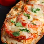 Italian Chicken Cheesy Bread from crunchycreamysweet.com 150x150 Italian Chicken Cheesy Bread