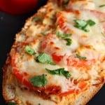 Italian Chicken Cheesy Bread from crunchycreamysweet.com  150x150 Italian Chicken Cheesy Bread