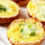 Broccoli and Cheese Mini Quiches a 150x150 Broccoli and Cheese Mini Quiches