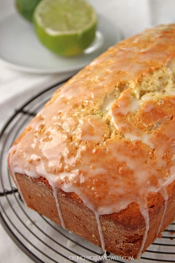 Coconut Lime Loaf Cake @crunchycreamysw 682x1024 Glazed Lemon Easter Loaf Cake Recipe