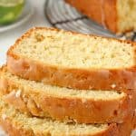 Glazed Loaf Cake with Coconut and Lime a 150x150 Coconut Lime Loaf Cake