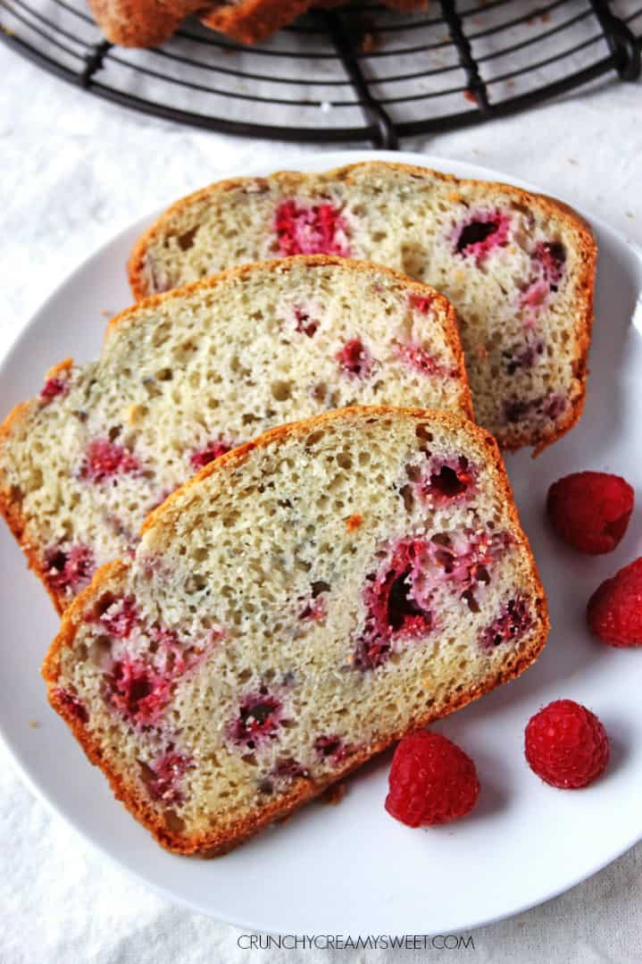 Lemon Raspberry Quick Bread Lemon Raspberry Sweet Quick Bread