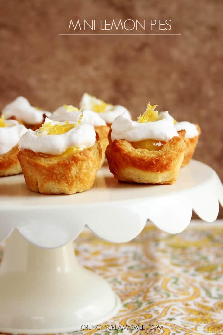 Mini Lemon Pies Lemon Cream Cheese Crumb Cake Recipe Card