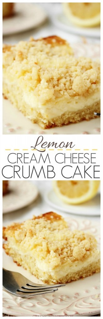 Lemon Cream Cheese Crumb Cake from crunchycreamysweet.com cake lemon 331x1024 Lemon Cream Cheese Crumb Cake