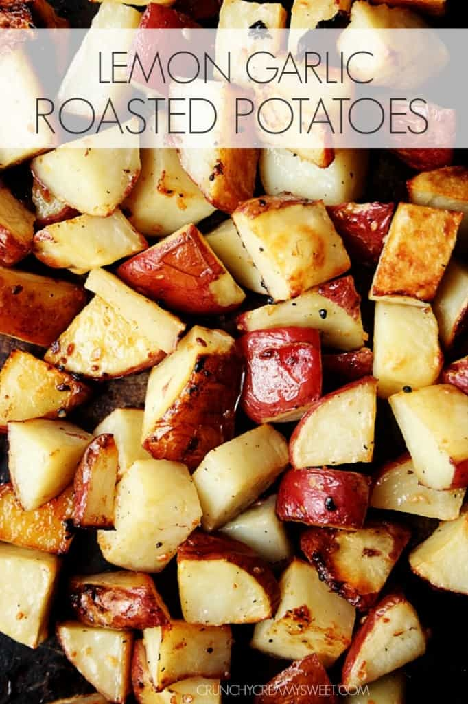 Lemon Garlic Roasted Potatoes – super easy side dish yet packed with ...