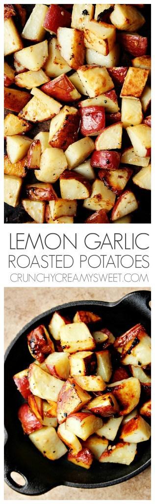 Lemon Garlic Roasted Red Potatoes recipe crunchycreamysweet.com  316x1024 Lemon Garlic Roasted Potatoes