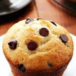 Bakery Style Chocolate Chip Muffins a 150x150 Bakery Style Jumbo Chocolate Chip Muffins