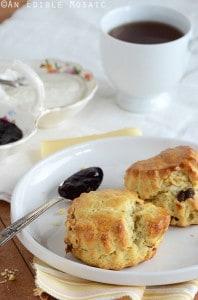 Cherry Vanilla Sour Cream Scones with Vanilla Cream Spread 2 198x300 60+ Mothers Day Brunch Recipes