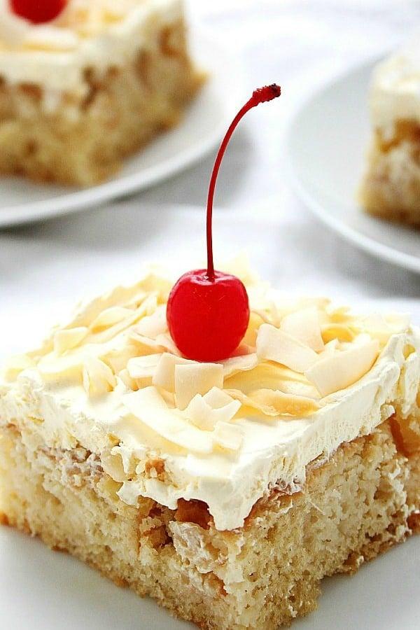 Pina Colada Poke Cake a Pina Colada Poke Cake