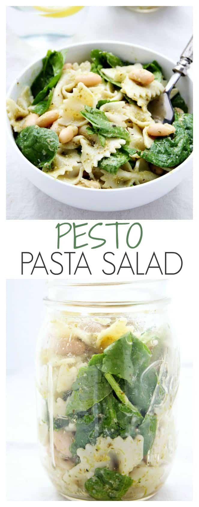 Pesto Pasta Salad - super easy and satisfying pasta salad with pesto ...