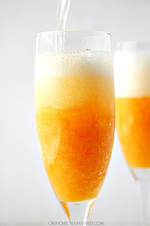 Frozen Peach Bellini @crunchycreamysw Frozen Peach Bellini