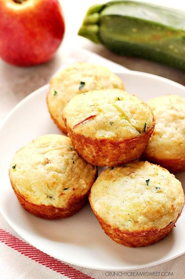 apple zucchini muffins A Apple Zucchini Muffins