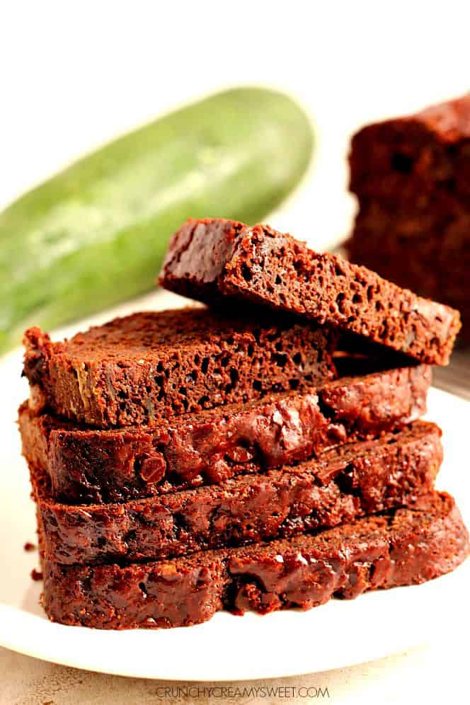 chocolate zucchini bread 2 Double Chocolate Zucchini Bread