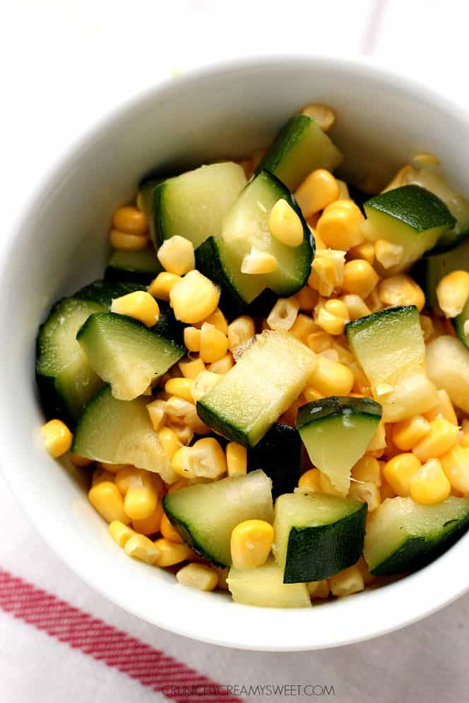 corn and zucchini Sweet Corn and Zucchini Pasta with Bacon (15 Minute Dinner)