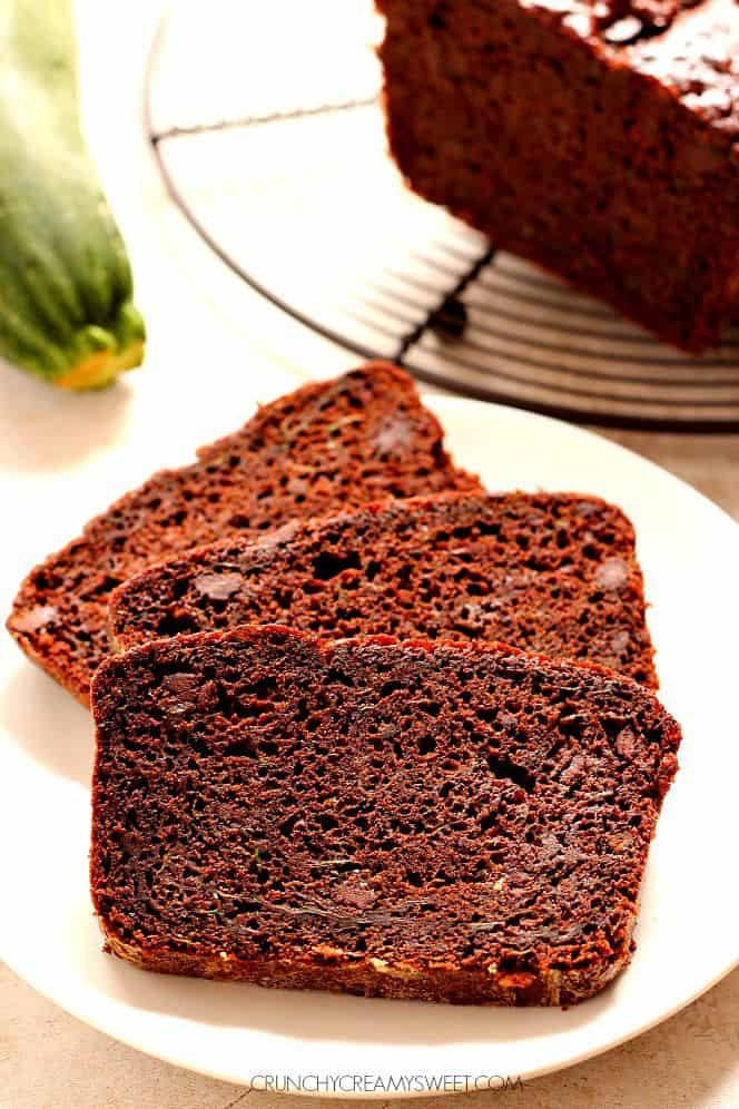 double chocolate zucchini bread 1 The Best Chocolate Bundt Cake Recipe Card
