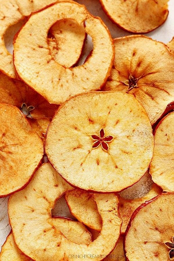 apple chips B Oven Baked Apple Chips