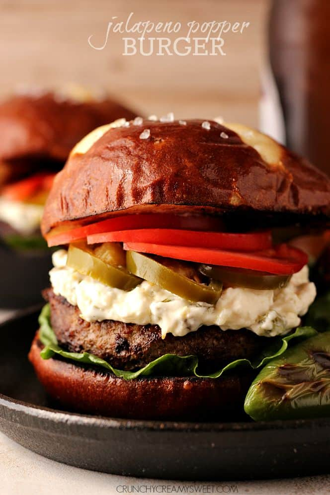 Jalapeno Popper Burger - beef burger grilled to perfection and topped ...