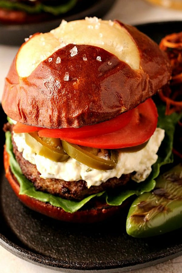 jalapeno popper burger a Jalapeno Popper Burger