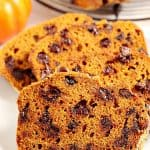 pumpkin bread with chocolate A 150x150 Best Pumpkin Chocolate Chip Bread